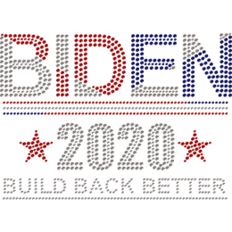 2020 Vote for Biden Rhinestone Heat Transfer
