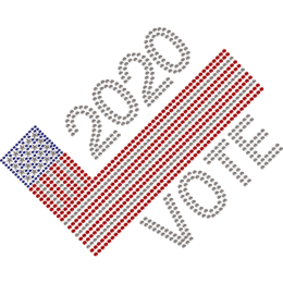 2020 American Vote & Flag Hotfix Rhinestone Transfer