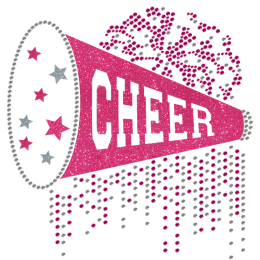 Bling Cheer For You Cheerleading Glitter Transfer