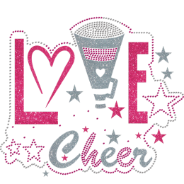 Love Cheer Glitter Theme Heat Transfer