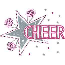 Cheer For My Super Star Shiny Glitter Transfer