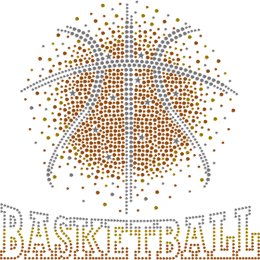 Basketball Theme Nailhead Bling Transfer
