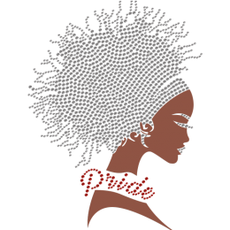 Pride Of My Identity Afro Girl Bling Transfer