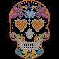 Skull Fashion Metal Rhinestud Transfer
