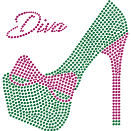 Diva Green High Heeled Shoe Hot Fix Transfer