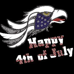 Eagle Motif Happy 4th Of July Heat Press Transfer