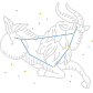 Capricornus Star Sign Bling Rhinestone Transfer