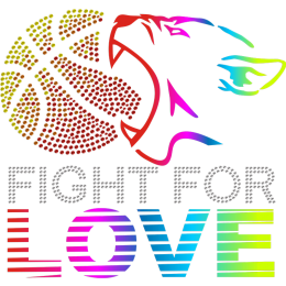 Fight For Love Basketball Motif Printable Reflective PU Transfer