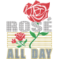 Rose All Day Glitter Plus Rhinestone Bling Transfer