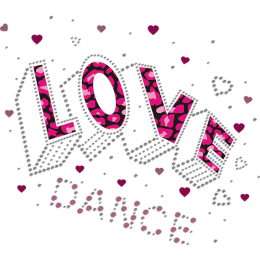 Love Dance Pretty Pink Transfer For Shirts