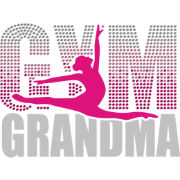 Gym Grandma Holographic And Nailhead Transfer
