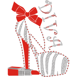 Diva High Heel And Lipstick Heat Transfer