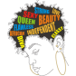 Tag Of Gorgeous Afro Girl Heat Press Transfer