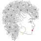 Side Face Of Afro Girl Rhinestone Transfer