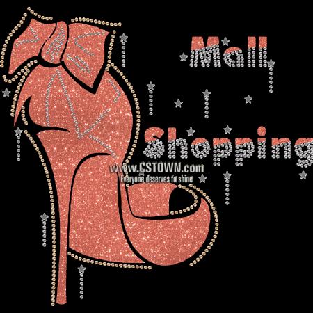 Shopping Mail Fashion Queen High Heel Motif Heat Transfer