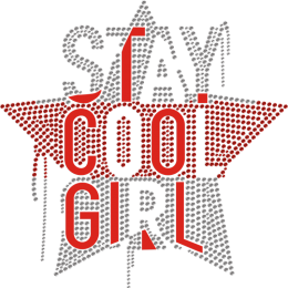 Stay Cool Girl Star Rhinestone Transfer