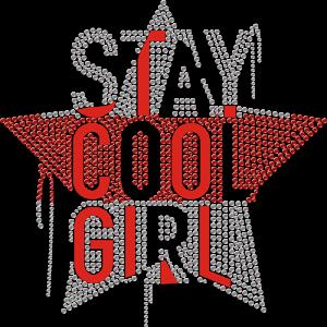Stay Cool Girl Star Rhinestone Transfer