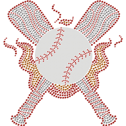 Heated Baseball Theme Rhinestone Transfer