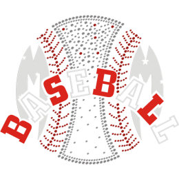Super Baseball Bling Rhinestone Transfer For Clothes