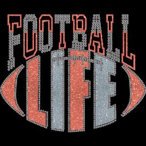 Football Life Glitter Heat Transfer For Jerseys