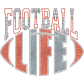 Football Life Glitter Heat Transfer For Jerseys