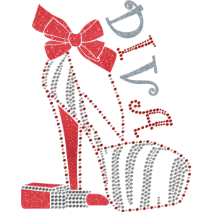 Diva Lipstick And High Heel Foil Transfer
