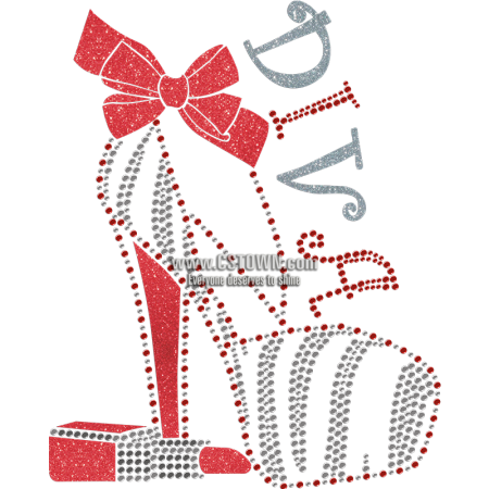 Diva Lipstick And High Heel Foil Transfer