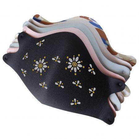 Mask with Lovely Daisy Rhinestone Heat Transfer Designs