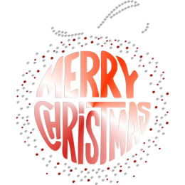 Bling Merry Christmas Printable PU Heat Transfer