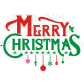 Merry Christmas Printable PU Heat Transfer