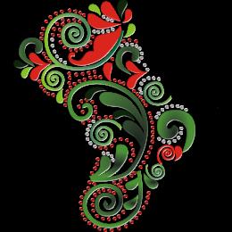 Christmas Decorative Pattern Printable PU Heat Transfer