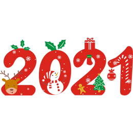 Cute 2021 Christmas Printable PU Iron On Decals