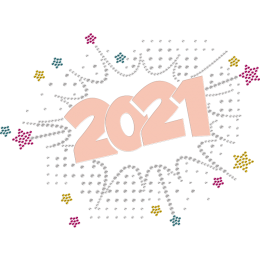 Cheerful 2021 Rhinestone & Glitter Heat Transfer