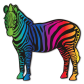 Magic Show Rainbow Zebra Printable Flock Heat Transfer for T-Shirts