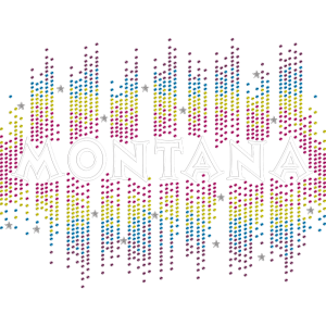 Dazzling Colorful Montana Rhinestud Iron On Appliques