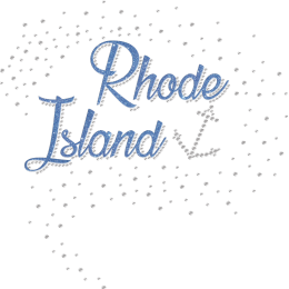 Blue Shining Rhode Island Glitter Rhinestone Iron On Designs
