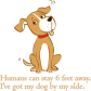 Happily Wagging Dog Printable PU Transfer for Clothing