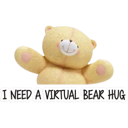 Adorable Furry Bear Needing a Hug Printable PU Heat Transfer