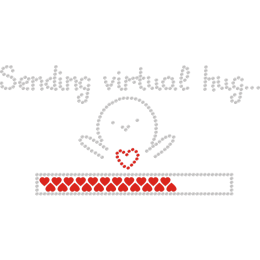 Sending Virtual Hug & Cartoon Character Rhinestone Transfer