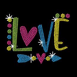 Lovely Love Arrow Neon Rhinestud for Children