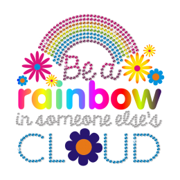 Printable Rainbow Decorate with Daisies Heat Transfer