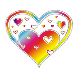 Rainbow Heart Printable Heat Transfer