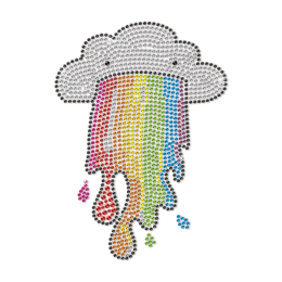 I Am a Cloud I Have a Rainbow in My Mouth Neon Stud Transfer