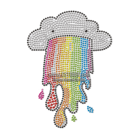 I Am a Cloud I Have a Rainbow in My Mouth Rhinestud Transfer