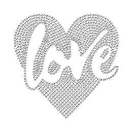 Bling Love in My Heart Neon Stud Heat Transfer