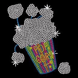Neon Stud Popcorn for Leisure Time Heat Transfer
