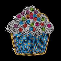 Tutti-Frutti Cupcake Neon Stud Heat Transfer
