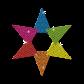 Mysterious Hexagram Neon Stud Hot Press Transfer