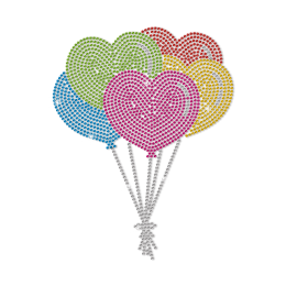 Heart Shaped Balloons for Kids Neon Stud Transfer