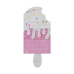 Can Not Help But Want To Go Up A Bite Ice Cream Neon Stud Transfer